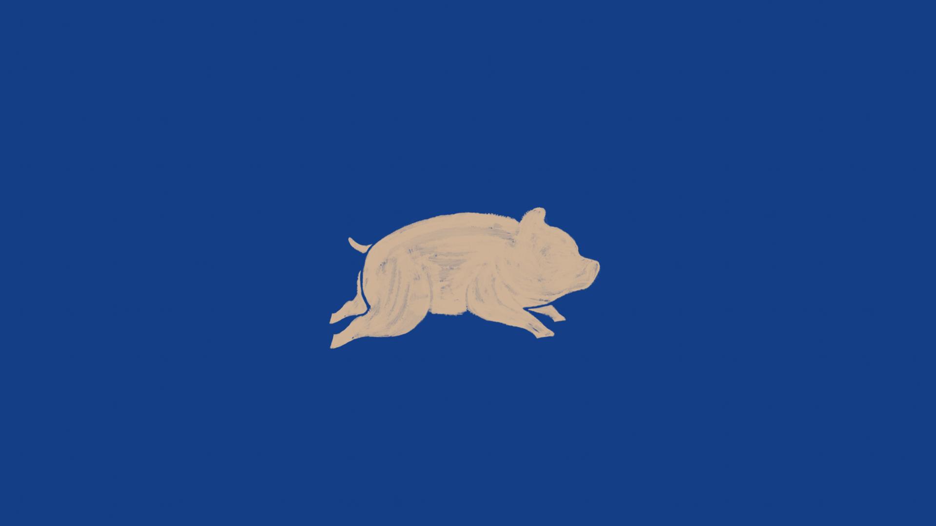 pig-blue-blake-yoenpaperland