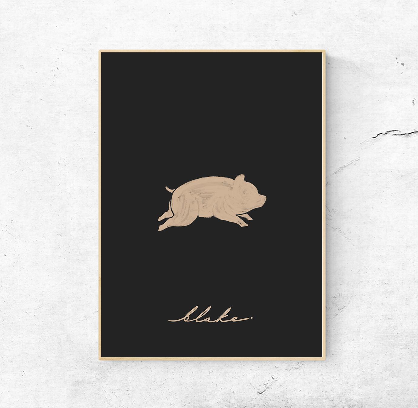 poster-pig-black-blake-yoenpaperland