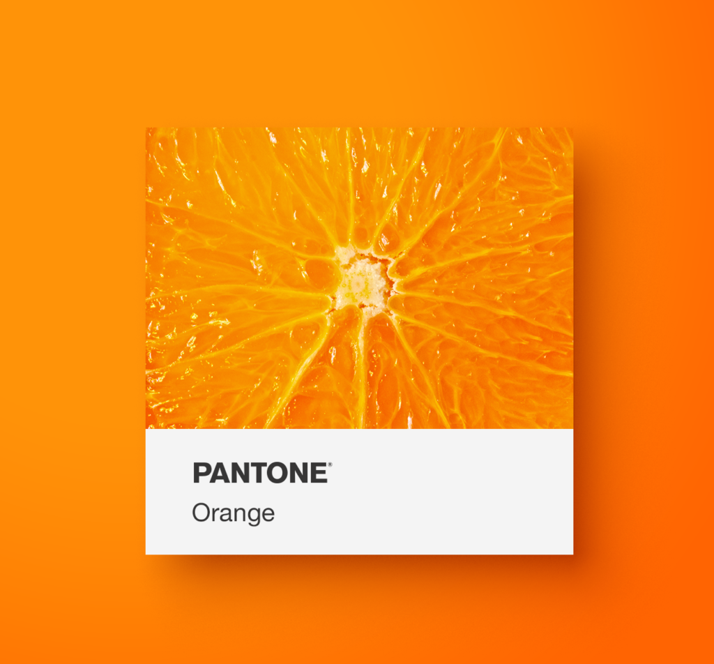 Pantone orange food. Yoenpaperland