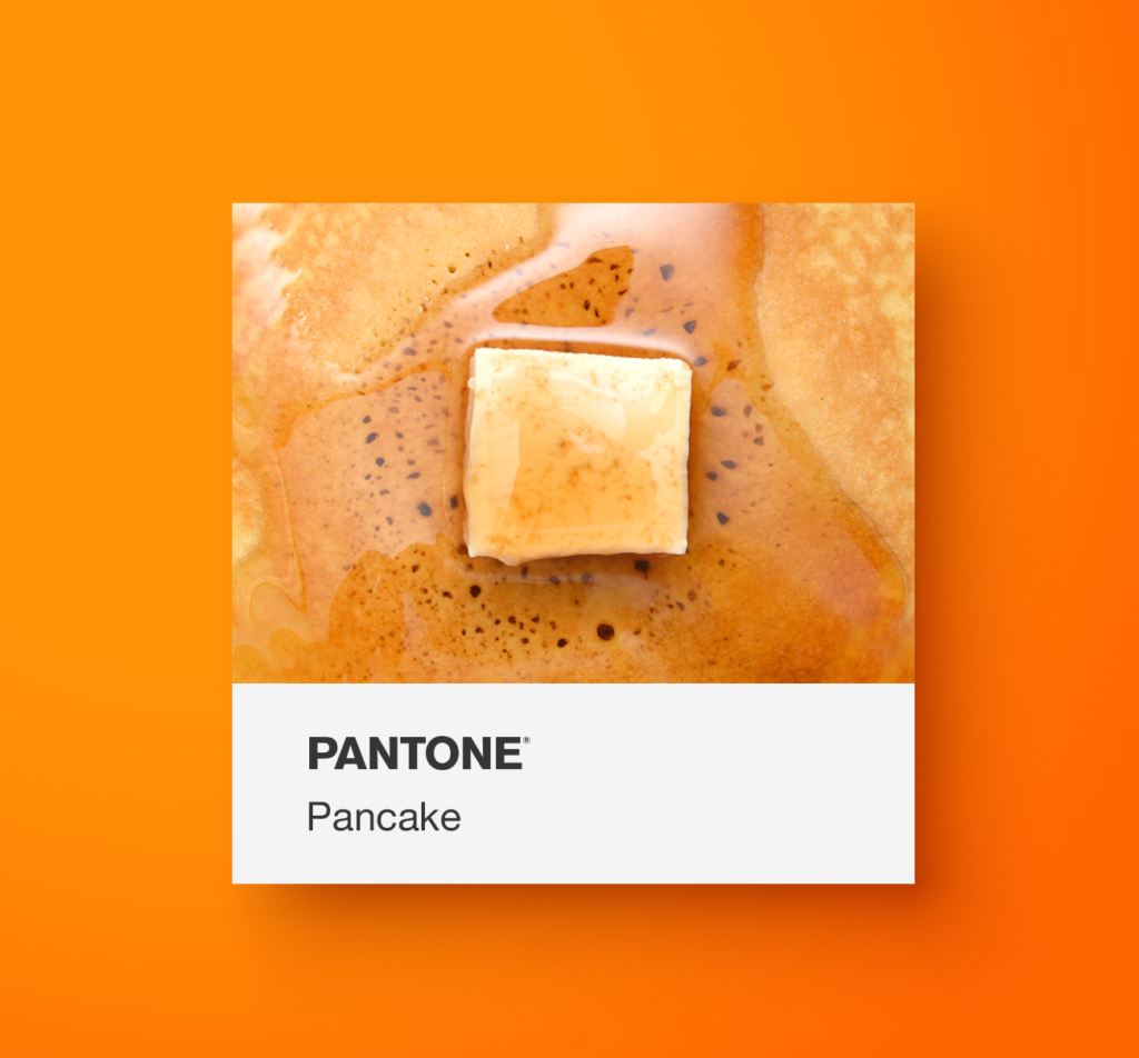 Pantone orange food.  Pancake. Yoenpaperland