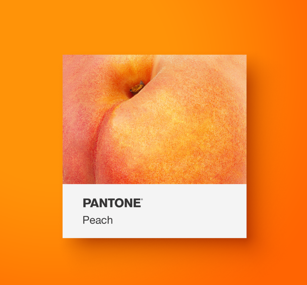 Pantone orange food.  Peach. Yoenpaperland