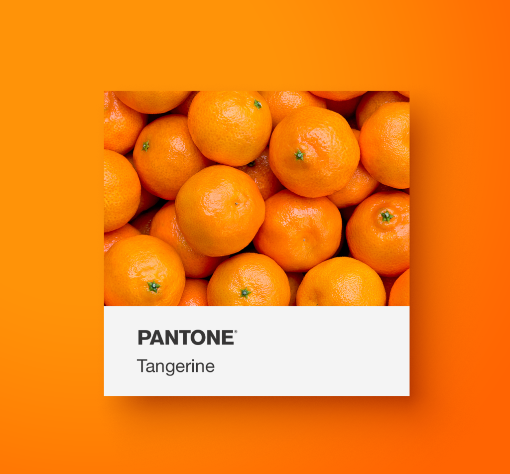 Pantone orange food.  Tangerine. Yoenpaperland