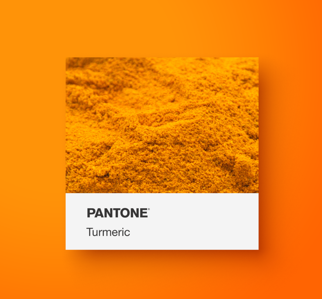 Pantone orange food.  Turmeric. Yoenpaperland